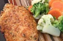فیله ماهی تیلاپیا با پنیر پارمسان