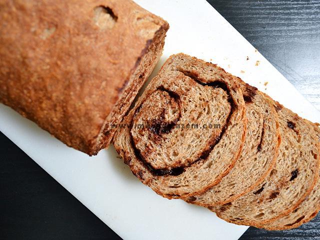 Choc Cinn Bread above